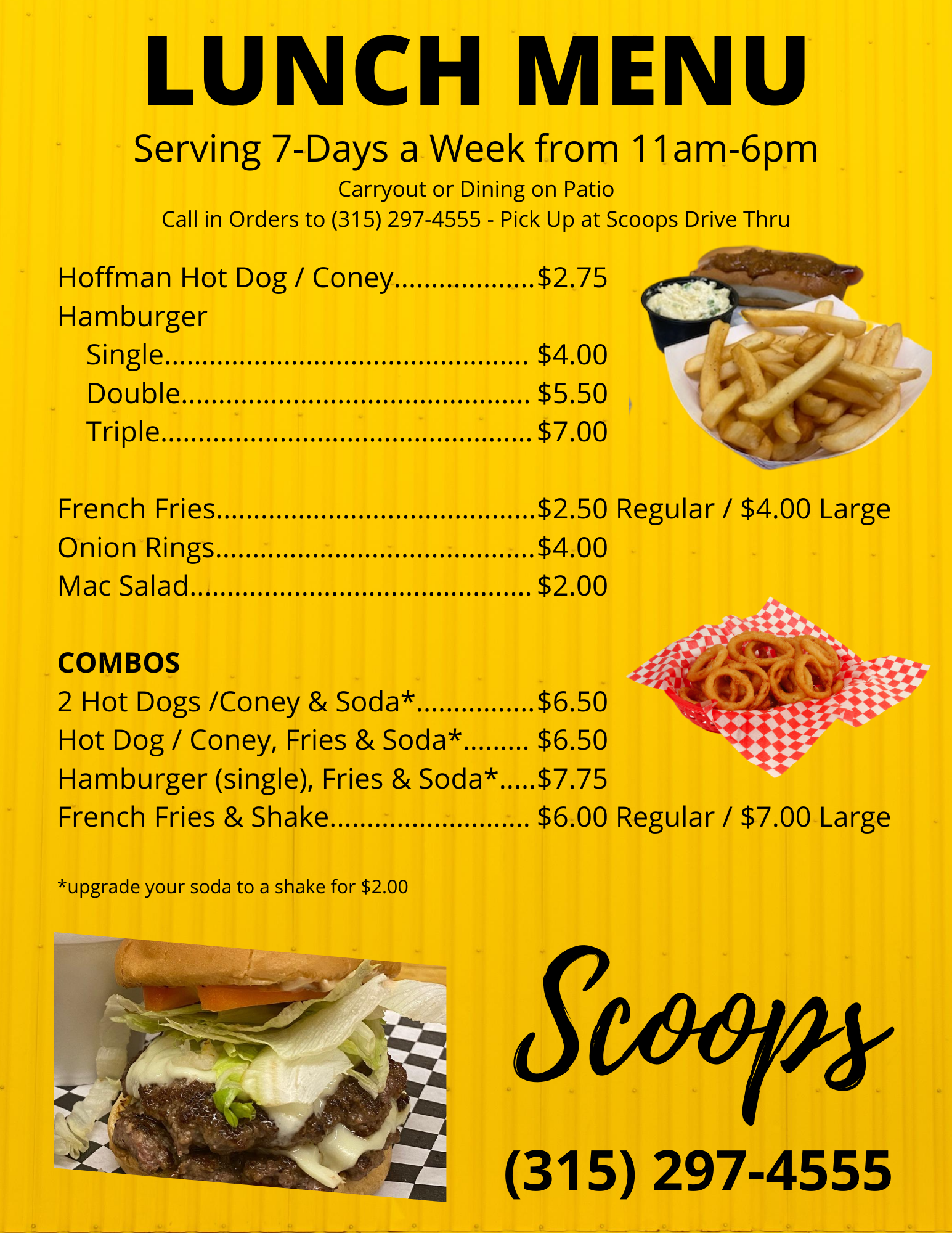 Scoops-LUNCH MENU-7days